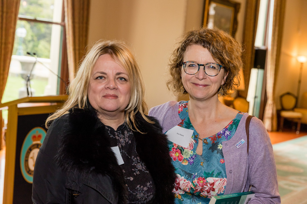 Pictured here are Hush friends, poet Rosie Keely with Canadian and Patient Storyteller, Sue Robins.