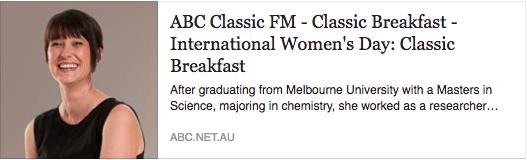 ABC Classic FM Maria Grenfell