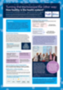 Poster for the IHI/BMJ conference, Melbourne Sep 2018, Prof Catherine Crock AM and Lucy Mayes
