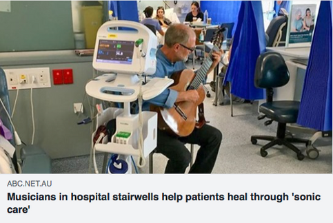 Meet the musicians playing in hospital stairwells helping patients heal