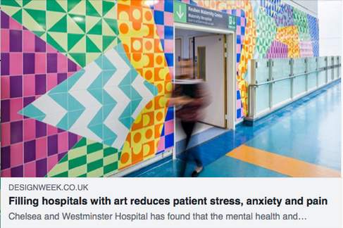 Filling hospitals with art reduces patient stress, anxiety and pain