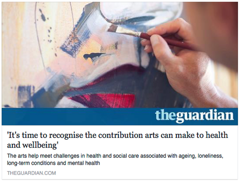 'It's time to recognise the contribution arts can make to health and wellbeing'