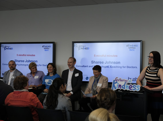 Our wise panel with facilitator Gemma Sh