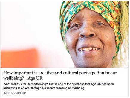 How important is creative and cultural participation to our wellbeing?