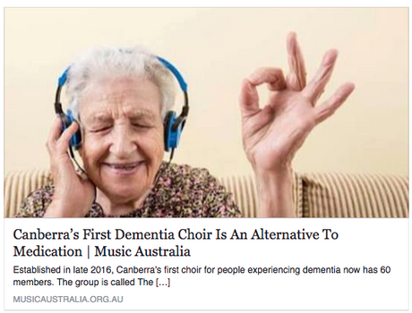 The Alchemy Choir hepls Canberrans with dementia