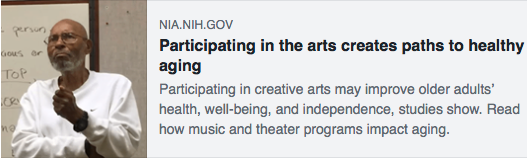 Participating in the arts creates paths to healthy aging