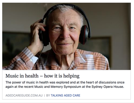 Music Makes a Difference in Aged Care and Other Health Settings