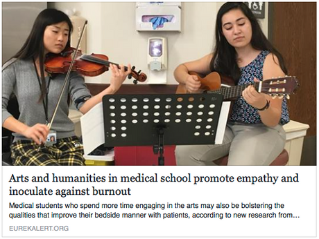 The arts, professional well-being, and patient centred care: they all go together in a good medical education.