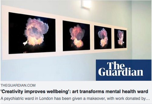 'Creativity improves wellbeing': art transforms mental health ward