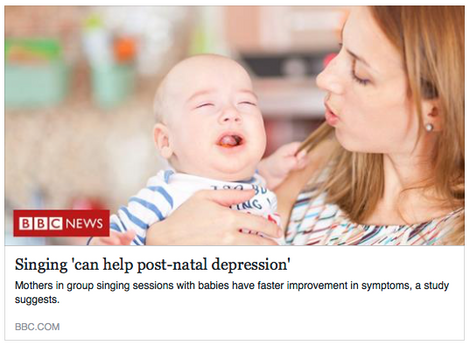 Singing 'can help post-natal depression'