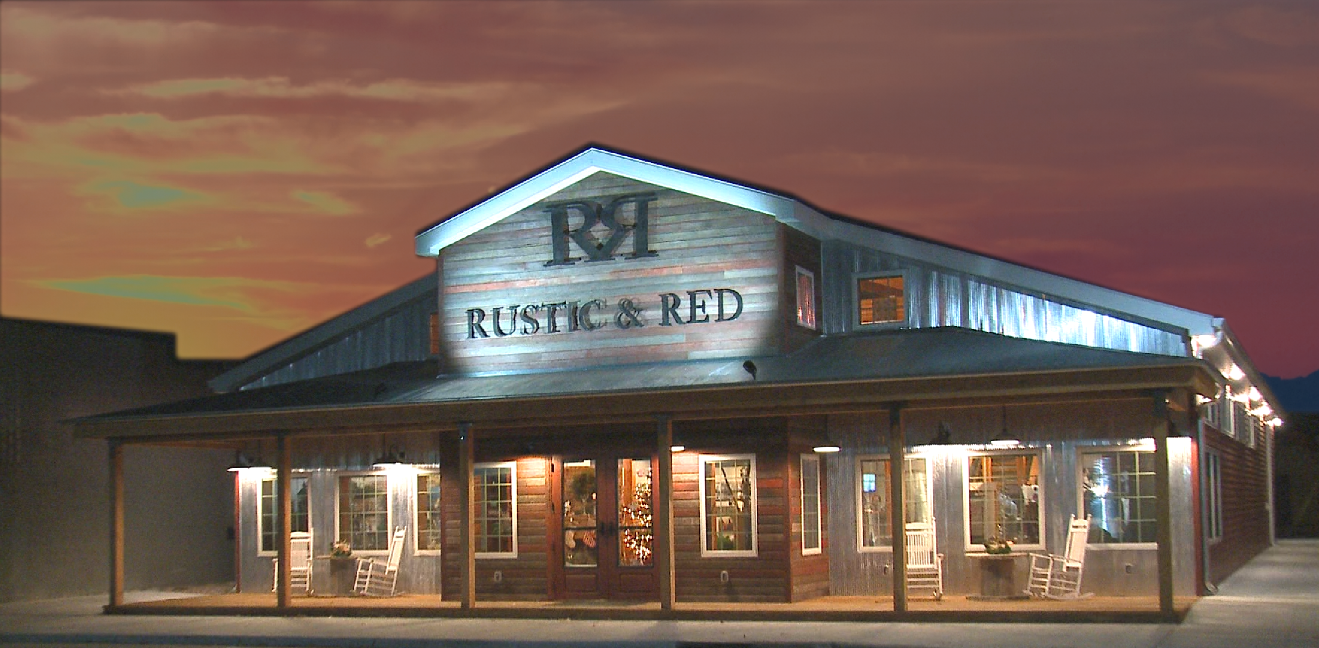 Rustic and Red night with background