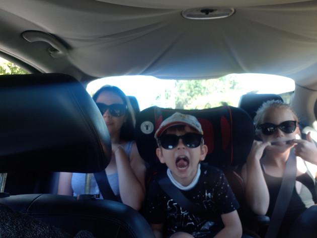 Oh my three kids squished
