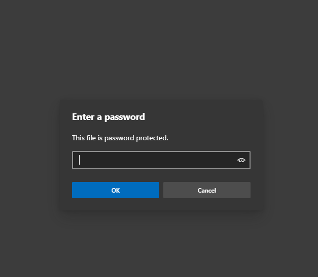 PASSWORD PROTECTED PDF SYSTEM TO PROTECT DATA