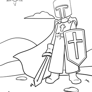 Crusader Coloring Page