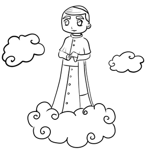 St. John Paul II Coloring Page