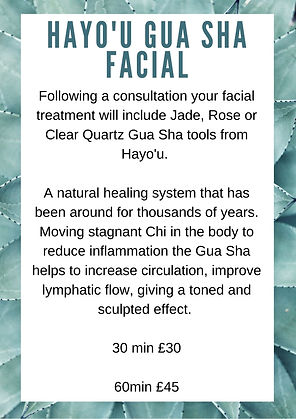 Crystal massage. gua sha massage. holistic facial
