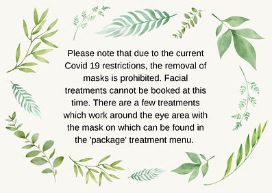 Covid restrictions in Salons. Covid restrictions on facials. Covid restrictions on beauty industry