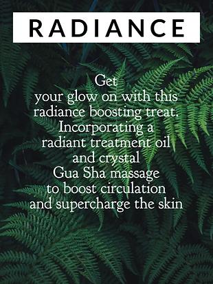 radiance facial, glowing skin, make up free, glow, bright skin, gua sha massage