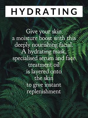 hyrdating skin, hyrating facial, monthly facial, facial spa, facial salon, facial therapist