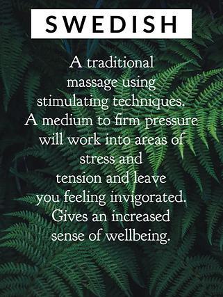 swedish massage, stimulating massage, traditional massage, firm massage, medium massage, invigorating massage, increase energy