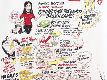 Graphic illustration of Colleen McCreary's talk at On Your Marks