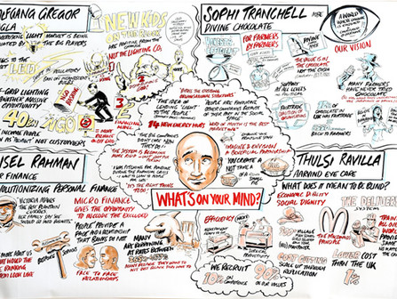 Illustration of Social Innovation Panel at On Your Marks