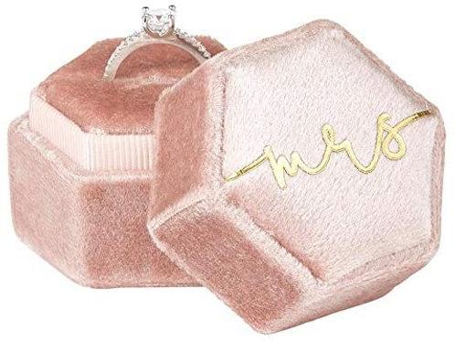 Velvet Mrs. Ring Box