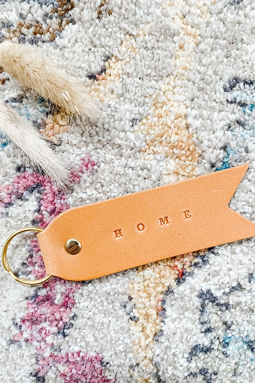 'Home' Keychain by Twin Sparrow