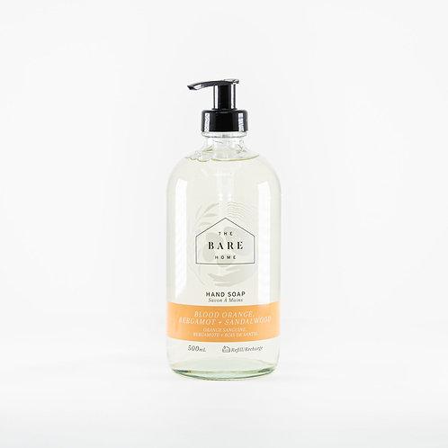Blood Orange, Bergamot + Sandalwood Hand Soap by The Bare Home