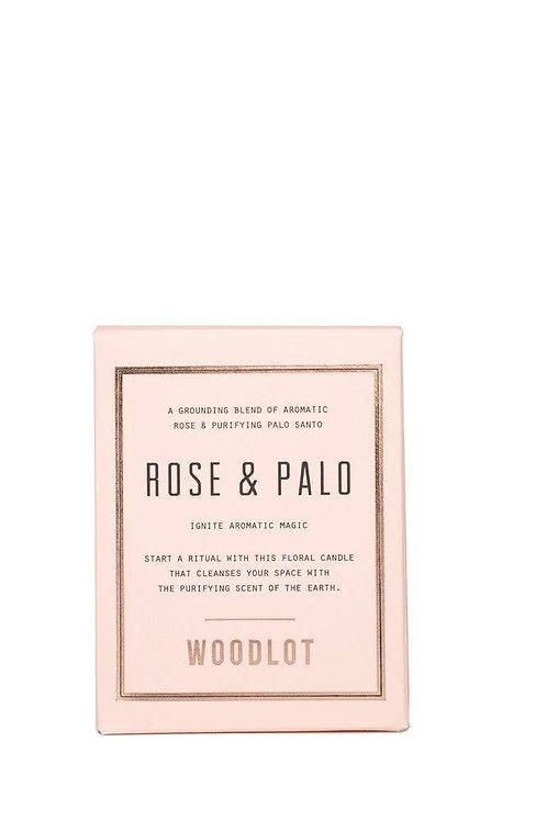 Woodlot Rose + Palo Candle