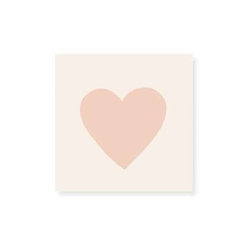 Small Match Box - Embossed Pink Heart