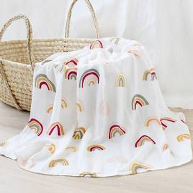 Bamboo & Cotton Muslin Swaddle - Rainbow