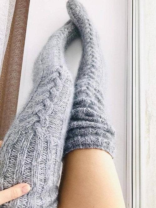 Gray Knit Socks