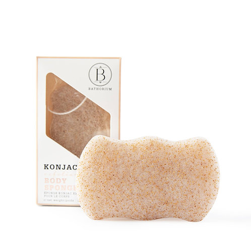 Konjac Walnut Exfoliating Body Sponge