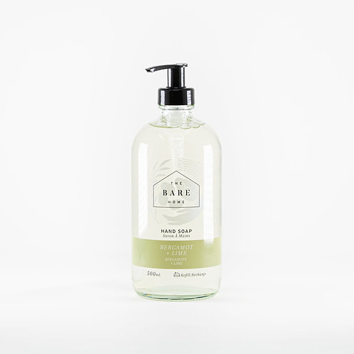 Bergamot + Lime Dish Soap by The Bare Home
