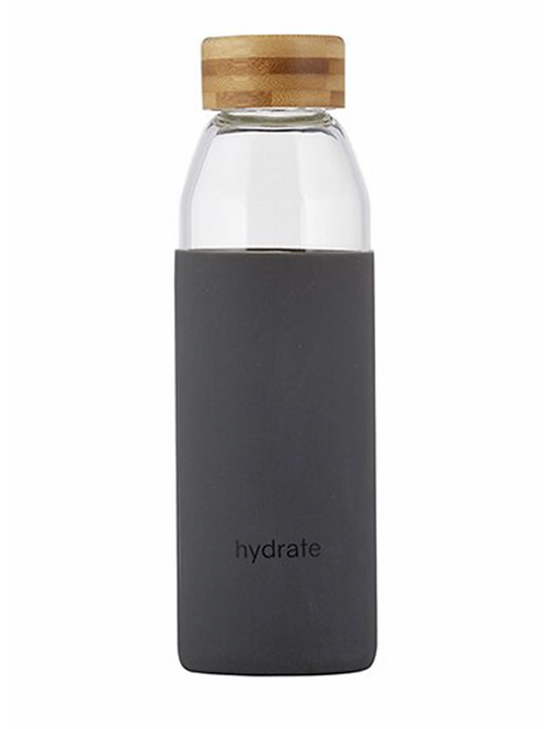 Glass Bamboo 'Hydrate' Water Bottle
