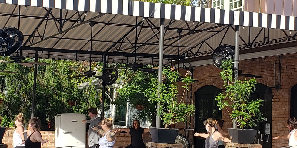 At Spread & Co.: Rise & Shine Yoga on the Patio!