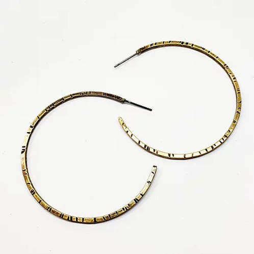Daisy Metalworks - Hammered Hoops