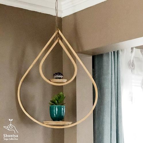 Wood Plant Hangers - Double Tear Drop