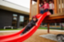 Child enjoying slide at Leopold Early Learning Centre