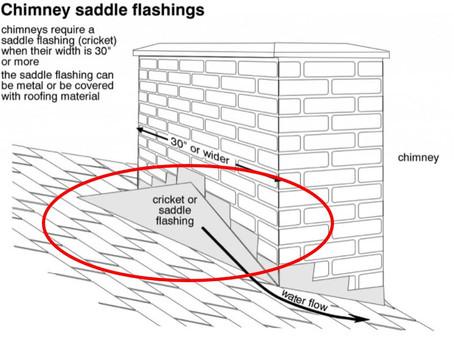 Chimney Leaks - Missing Chimney Cricket