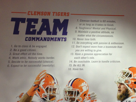 What I Learned From Clemson Football's Winning Culture