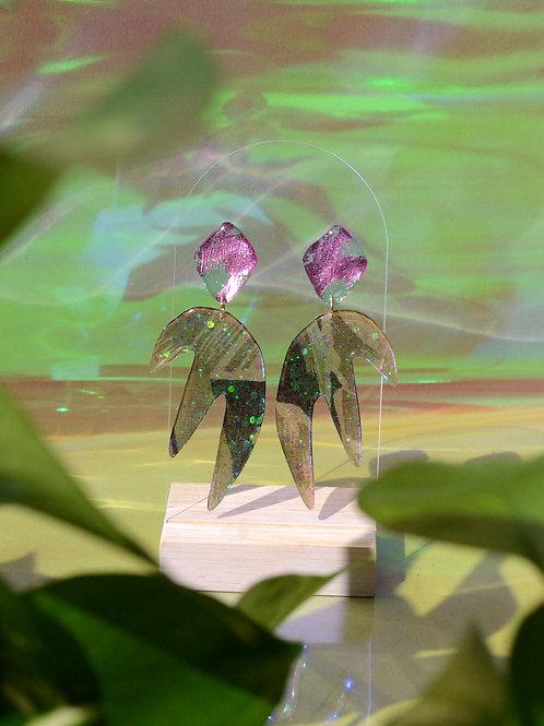 XL Leaf Dangle Earrings