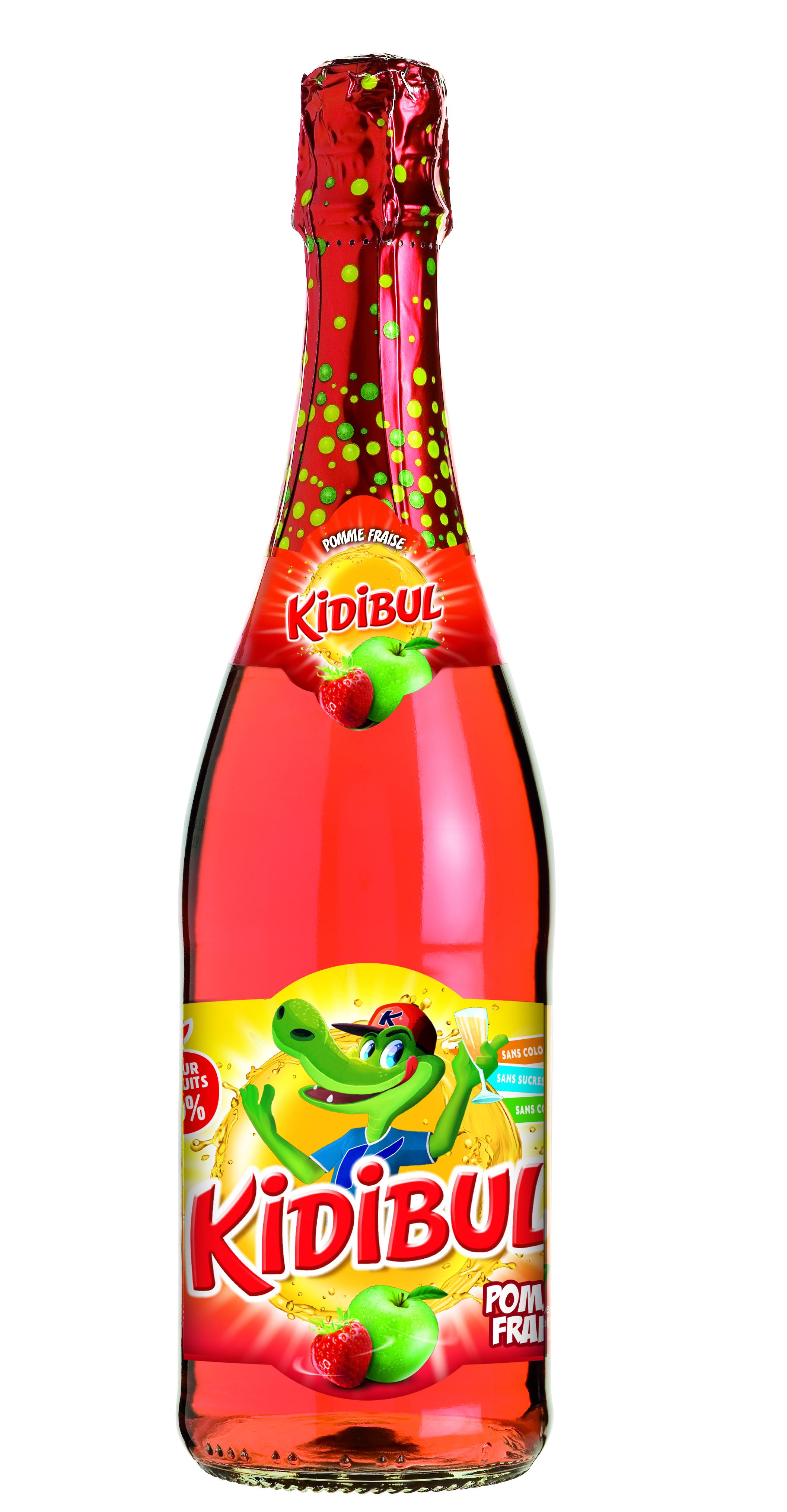 Bouteille 75cl KIDIBUL France fraise