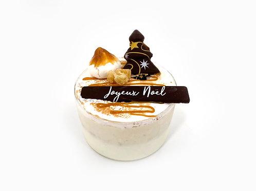 Vanille-Caramel beurre salé avec des éclats de nougatine, meringue itali