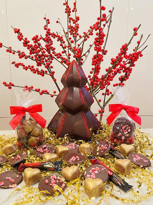 Artisanal Chocolate Christmas Tree Gift Package