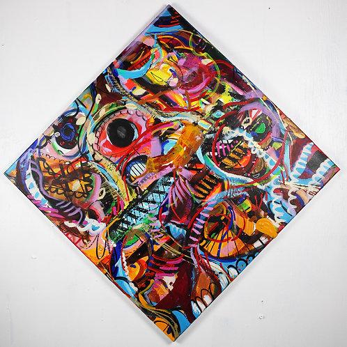 Celebration of Living Original Acrylic Painting