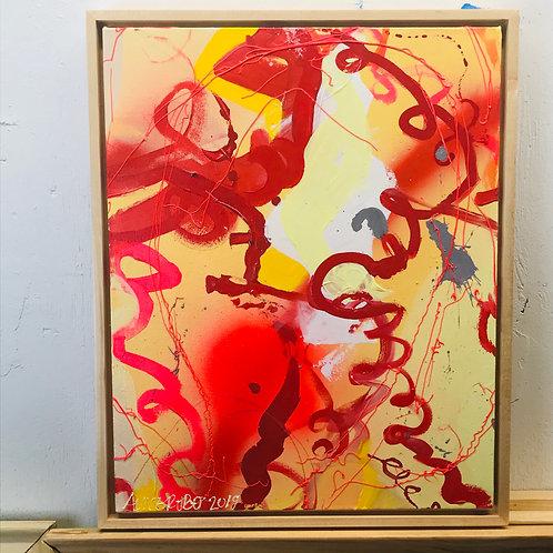 Spaghetti al Dente, Original Painting, framed