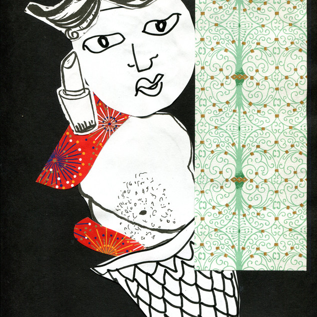 Merthem Collage on Paper