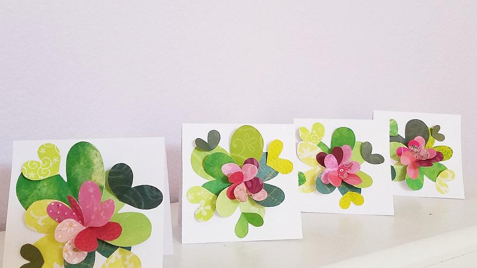 Springtime Feels 3 Notecards (4-pack)
